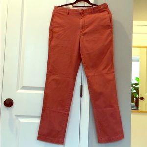MENS J. Crew Nantucket Red Classic Fit Chino